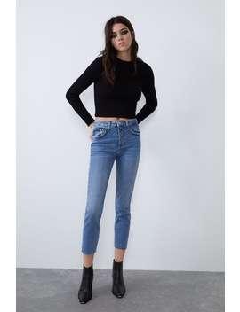 slim-fit-hi-rise-jeans by zara