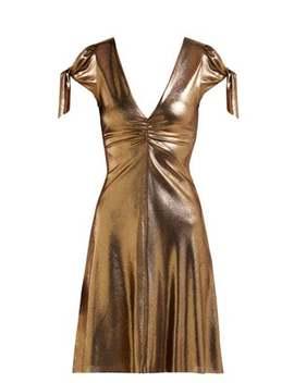 Soraya Lamé Mini Dress by Maria Lucia Hohan