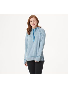cuddl-duds-slub-knit-hooded-tunic-with-rib-detailing by cuddl-duds