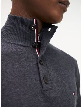 Cotton Silk High Neck Jumper by Tommy Hilfiger