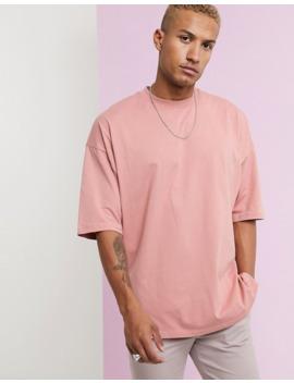Lyserød, Oversized T Shirt Med Slids I Siden Fra Asos Design by Asos Design