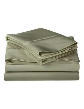 Superior Egyptian Cotton 1200 Thread Count Solid Deep Pocket Sheet Set   Sage   Queen by Superior