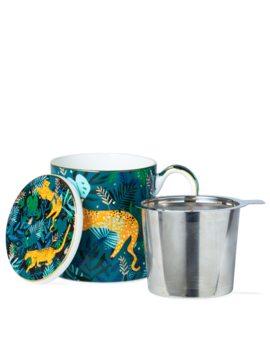 Zoo Brews Mug With Infuser Leopard by T2 Tea