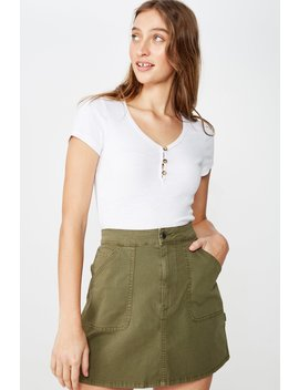 Kasha Utility Mini Skirt by Cotton On