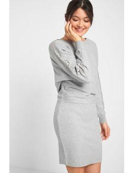 Dzianinowa Sukienka Z Koronką by Orsay