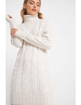 Dzianinowa Sukienka Z Golfem by Orsay