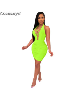Women Halter Dress Sleeveless Bandage Backless Dresses 2019 New Arrivals Summer Bodycon Womens Sexy Dresses Party Night Club by Ali Express.Com