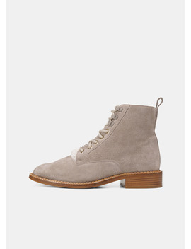 Shearling Lined Suede Cabria 3 Boot by Vince