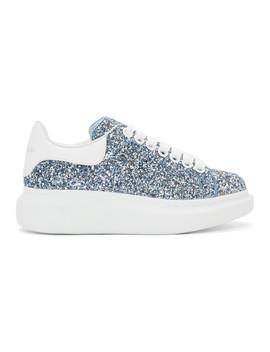 Blue Galaxy Glitter Oversized Sneakers by Alexander Mcqueen