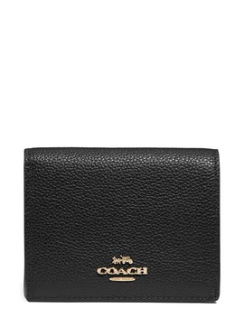 Small Logo Leather Wallet by Coach