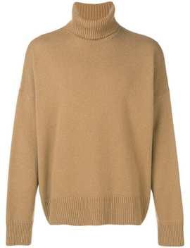 свитер оверсайз с высоким воротником by Ami Paris