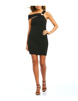 One Shoulder Ring Slim Dress by Jodi Kristopher