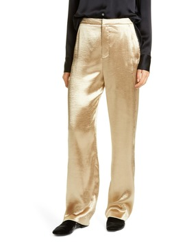 Metallic Wide Leg Pants by Vince