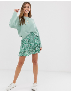 New Look Rib Crew Neck Jumper In Mint by New Look