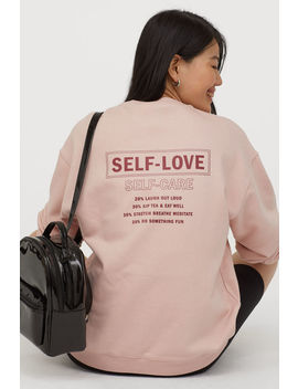 Sweatshirt Med Text by H&M