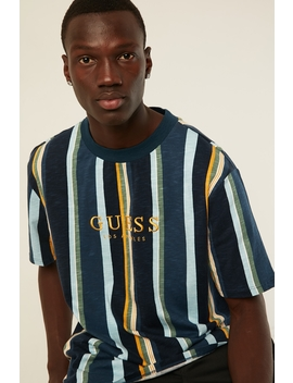 Ss Go Sayer Stripe Crew Sayer Stripe Voyage Blue by Guess Originals