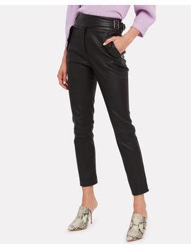 Jania Leather Trousers Jania Leather Trousers by Veronica Beard Veronica Beard