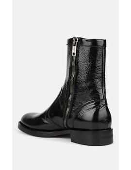 Cruz Cracked Leather Boots by Givenchy