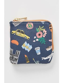 Rifle Paper Co. For Anthropologie Travel Icons Coin Pouch by Rifle Paper Co.
