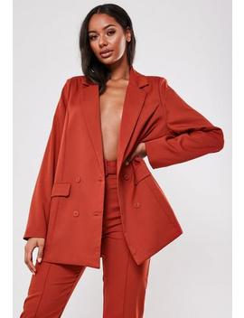 Red Co Ord Masculine Oversized Blazer by Missguided