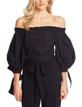 Off The Shoulder Balloon Sleeve Top by Cece