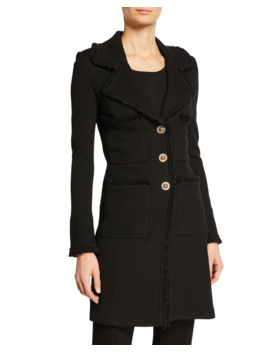 Milano Pique Fit And Flare Topper Coat by St. John Collection