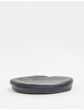 & Other Stories Leather Beret In Black by & Other Stories