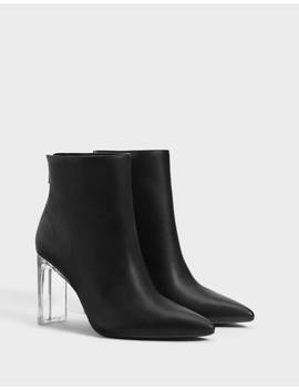 Ankle Boots With Methacrylate Heels by Bershka