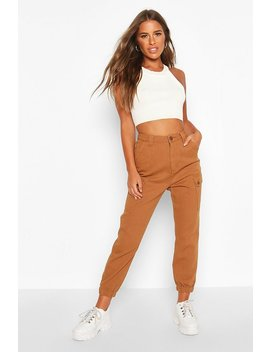 Petite Side Pocket Utility Cargo Jeans by Boohoo