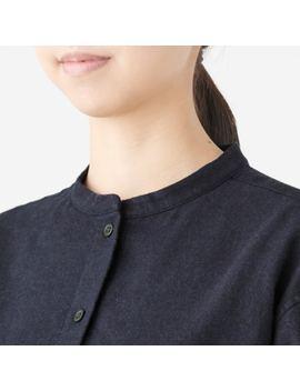 Xinjiang Cotton Flannel Stand Collar Shirt by Muji