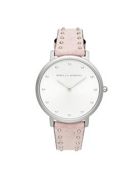 Major Silver Tone Blush Stud Strap Watch, 35mm by Rebecca Minkoff