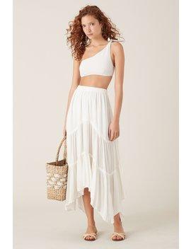 Kona Maxi Skirt   White by Tigerlily