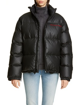 Chynatown Faux Leather Down Puffer Coat by Alexander Wang