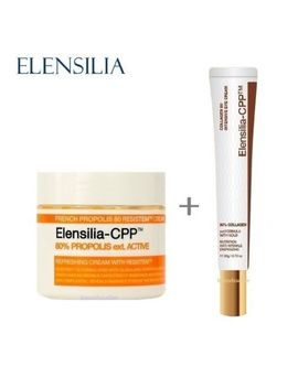 Elensilia Cpp 80% French Propolis Cream 50g + New Collagen Eye Cream 20g by Elensilia (Korean Cosmetics)