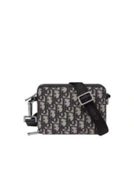 Pochette In Jacquard Dior Oblique Beige E Nero by Dior