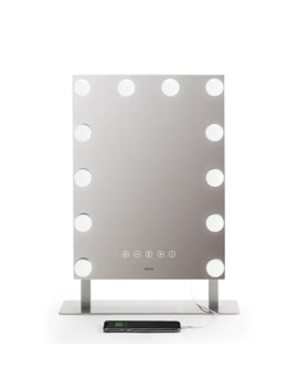 I Home Hollywood Pro Vanity Stereo Speaker With Bluetooth & Removable Detail Mirror by Ihome
