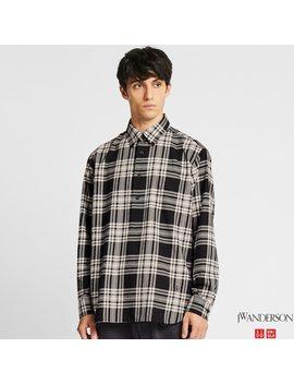 Camicia Di Flanella Jw Anderson A Quadri Maniche Lunghe Uomo by Uniqlo