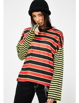 Mixed Stripe Skater Tee by The Ragged Priest