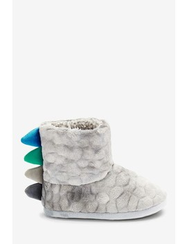 Grey Dinosaur Slipper Boots (Younger) by Next