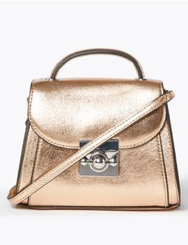 Mini Top Handle Shoulder Bag by Marks & Spencer