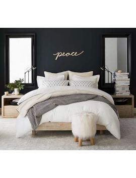 Cayman Platform Bed, Biscotti, Full by Pottery Barn