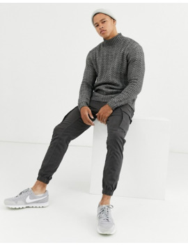 Asos Design Knitted Turtleneck Sweater With Tuck Stitch by Asos Design