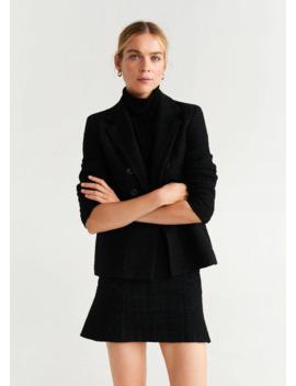Sacou Din Tweed Cu Nasturi by Mango