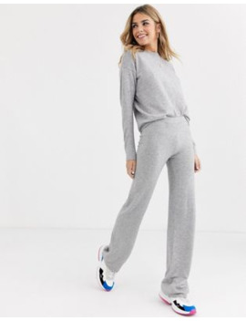 Brave Soul Soft Yarn Knitted Co Ord In Grey by Asos