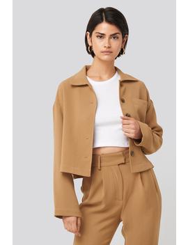 Short Pocket Overshirt Beige by Nakdclassic