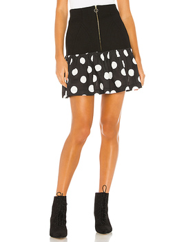 The Heather Skirt In Black Polka Dot by Selkie