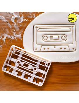 Classic Retro Cassette Tape Cookie Cutter | Biscuit Cutter | One Of A Kind Ooak by Etsy