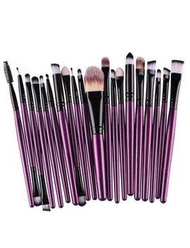 Tuscom 20pcs/Set Makeup Brush Set Tools Make Up Toiletry Kit Wool Make Up Brush Set Pp by Tuscom