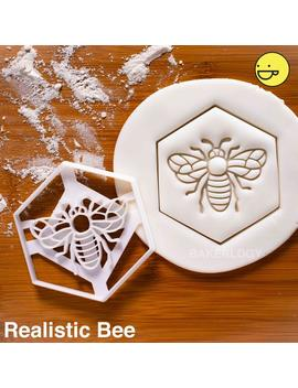 Honey Bee Cookie Cutter | Honeybee Biscuit Design | Honeybees Cookies Cutters | Bees Pollen Nectar Insect Gingerbread Craft Ooak | Bakerlogy by Etsy