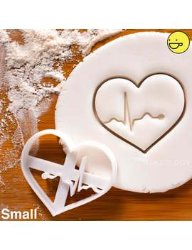 Ecg Heart Beat Rhythm Cookie Cutter | Ekg Biscuit Cookies Cutters | Gifts For Medical Nursing Doctor Student Students | One Of A Kind | Ooak by Etsy